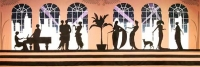 Art deco backdrop - Prop Hire from The Props List