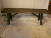 2x wooden vintage bench - Prop Hire from The Props List